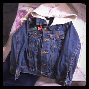Toddler boy patchwork denim jacket